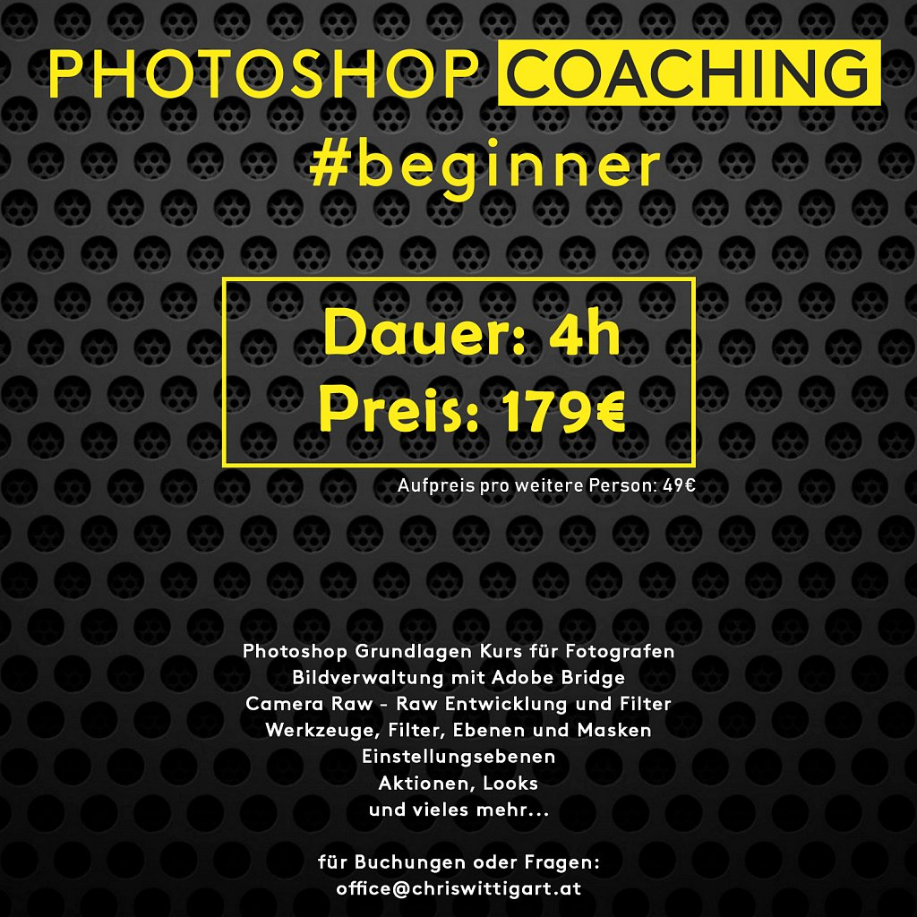 photoshop coaching for beginner